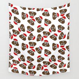 christmas poo emoji Wall Tapestry