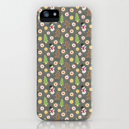 Holiday Cookies on a Beat Up Cookie Sheet iPhone Case