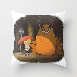 My Neighbor Kurama Throw Pillow