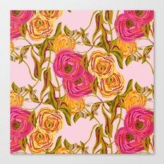 Ranunculus Garden Canvas Print