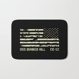 USS Bunker Hill Bath Mat