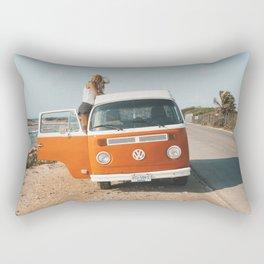 Combi van girl Rectangular Pillow