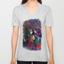 Radha Krishna- the divine Unisex V-Neck
