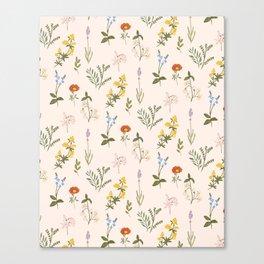 Garden Tale Pattern Canvas Print