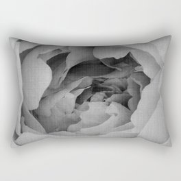 Blak and white rose Rectangular Pillow