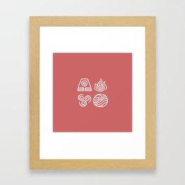Bending All Four Elements – Fire Framed Art Print