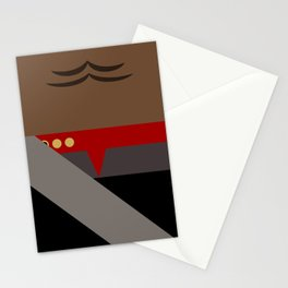 Worf - Minimalist Star Trek DS9 Deep Space Nine - Lieutenant Commander - startrek - Trektangles Stationery Cards