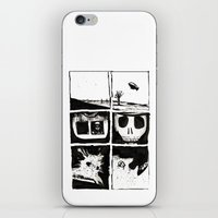 death iPhone & iPod Skins featuring Death by Lee Grace Illustration
