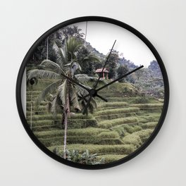 Tegallalang Rice Terraces Art Print | Ubud Bali Indonesia Photo | Travel Photography Wall Clock