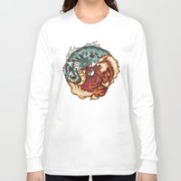 buddhism Long Sleeve T-shirts featuring The Tiger and the Dragon by Megan Lara