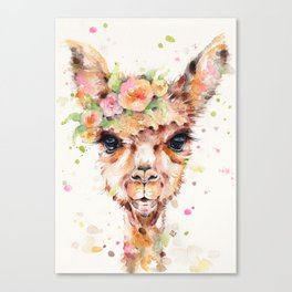Little Llama Canvas Print