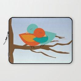 Hug ME - Two birds in hug - illustration of love Laptop Sleeve