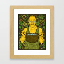 Cook (green) Framed Art Print