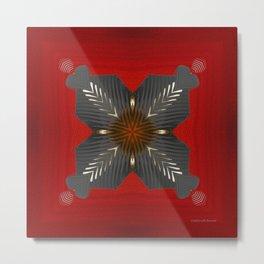 Red Box Metal Print