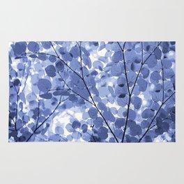Blue Leaves. Rug