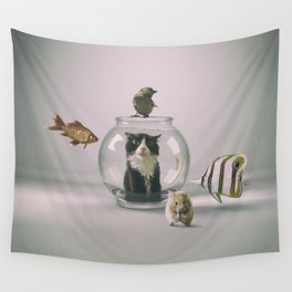 Curiosity killed the cat Wall Tapestry