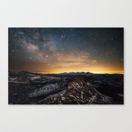 Matthes Crest Night Canvas Print