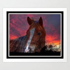 Mystic Sunset Art Print