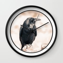 Crow 3 Wall Clock