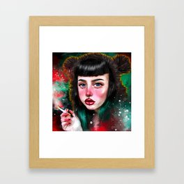 Beargirl Framed Art Print