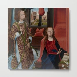 "Hans Memling ""The Annunciation"" (1465–70) Metal Print"