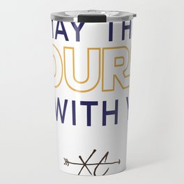 Purple & Gold: May the Course be With You Cross Country Travel Mug