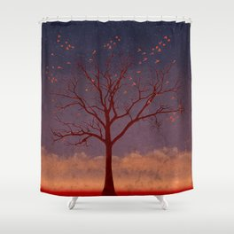 Geo Tree Shower Curtain