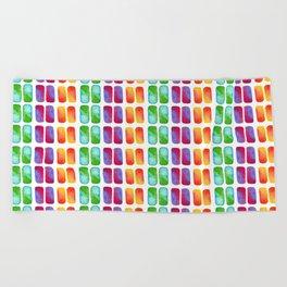 Color pops in Watercolor Beach Towel