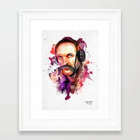 paramore Framed Art Prints featuring Cossack Ivan Sirko listen music by Sitchko Igor