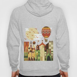 Hot air balloon ride trough the city Hoody