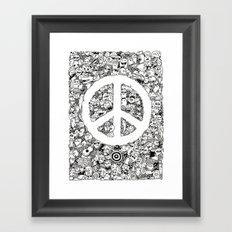Peace Doodle Framed Art Print
