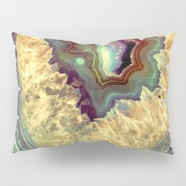 Colorful Earth Tones Quartz Crystal Pillow Sham