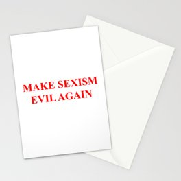 Make Sexism Evil Again Stationery Cards