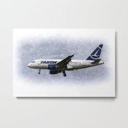 Tarom Airbus A318 Art Metal Print