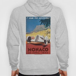 1935 Monaco Grand Prix Race Poster  Hoody