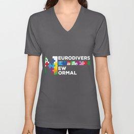 Neurodiversity Celebrate Neurodiverse New Normal Awareness design Unisex V-Neck