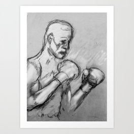 prizefighter sports boxing design Art Print