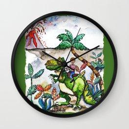 Dinosaur Rider Wall Clock