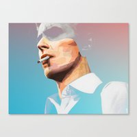 bowie Canvas Prints featuring BOWIE by Camila Fernandez