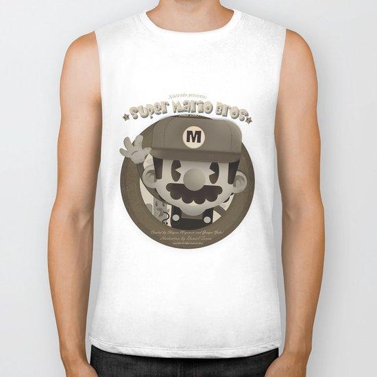 Mario Bros Fan Art Biker Tank