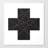 cross Canvas Prints featuring Cross by hyun yu