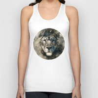 camouflage Tank Tops featuring LION CAMOUFLAGE by RIZA PEKER