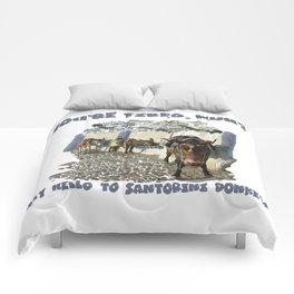 Santorini Donkeys Comforters