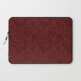 Retro Check Grunge Material Red Black Laptop Sleeve