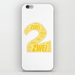 Zahl Zwei t shirt german as birthday present iPhone Skin