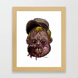 Heads of the Living Dead  Zombies: Problem Child Zombie Framed Art Print