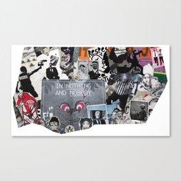 Paris Graffiti: 18th Arrondissement Canvas Print