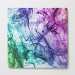 Rainbow Smoke Metal Print