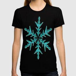 Minimalistic Aquamarine Snowflake T-shirt