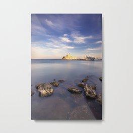 Mandraki harbour of Rhodes Greece at sunrise Metal Print
